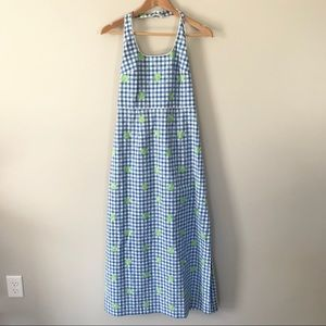 Vintage Lilly Pulitzer Gingham Halter Maxi Dress